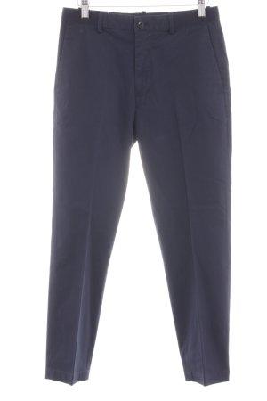 Uniqlo Bundfaltenhose blau Business-Look