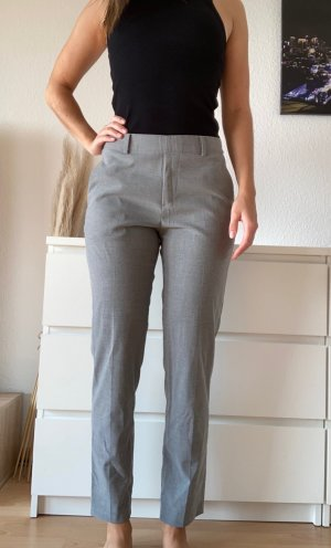 Uniqlo Pantalon chinos gris-gris clair polyester