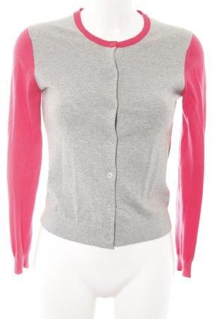 Uniqlo Cardigan hellgrau-pink meliert Casual-Look