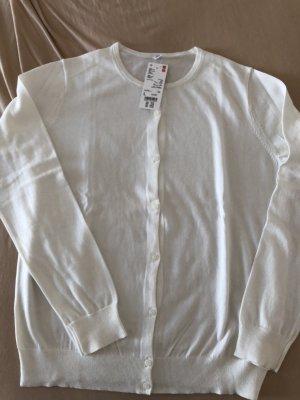Uniqlo Chaqueta estilo camisa blanco