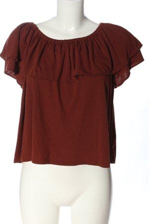 Uniqlo Blusa alla Carmen marrone stile casual