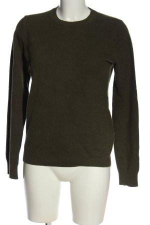 Uniqlo Cashmere Jumper khaki casual look