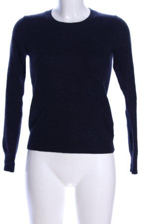 Uniqlo Cashmerepullover blau Casual-Look