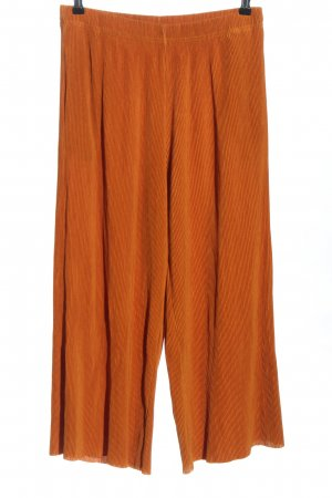 Uniqlo Falda pantalón de pernera ancha bermejo-naranja oscuro Poliéster