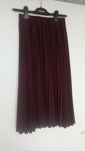Uniqlo Plaid Skirt bordeaux