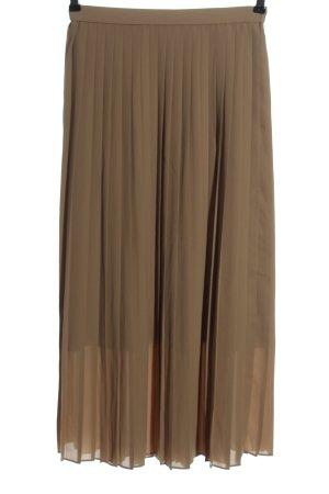Uniqlo Jupe à plis brun style décontracté