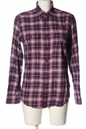 Uniqlo Flannel Shirt pink-lilac check pattern casual look