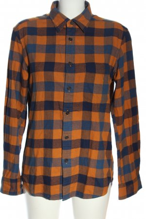 Uniqlo Flannel Shirt light orange-blue allover print casual look