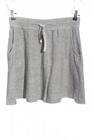 Uniqlo Flared Skirt light grey flecked casual look