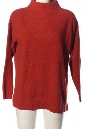 Uniqlo Grobstrickpullover rot Casual-Look