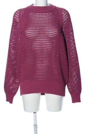 Uniqlo Grobstrickpullover pink Casual-Look