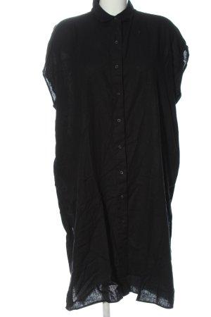 Uniqlo Hemdblusenkleid schwarz Casual-Look