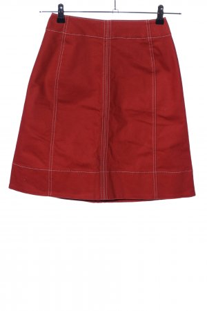 Uniqlo High Waist Skirt red business style