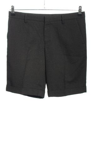 Uniqlo Pantalón corto de talle alto negro estilo «business»