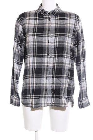 Uniqlo Holzfällerhemd schwarz-weiß Karomuster Casual-Look
