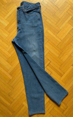Uniqlo Jeans a 7/8 blu Cotone