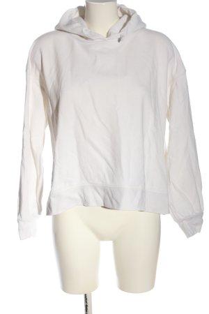 Uniqlo Felpa con cappuccio bianco stile casual