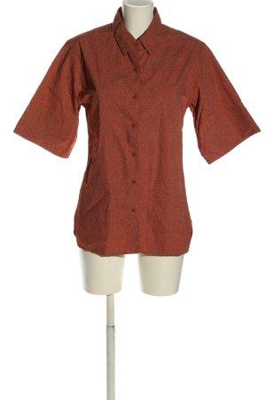 Uniqlo Camisa de manga corta marrón-blanco look casual