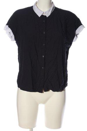 Uniqlo Kurzarmhemd schwarz-weiß Casual-Look