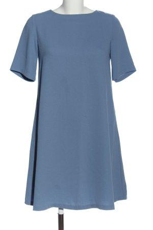 Uniqlo Kurzarmkleid blau Casual-Look