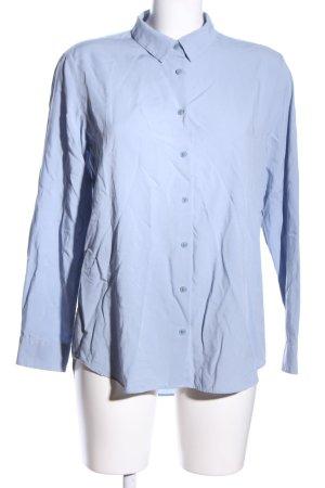 Uniqlo Langarm-Bluse blau Business-Look