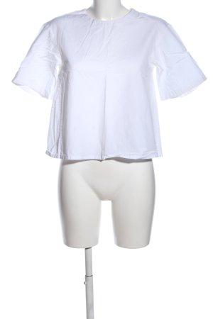 Uniqlo Langarm-Bluse weiß Casual-Look