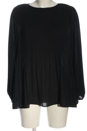 Uniqlo Langarm-Bluse schwarz Casual-Look