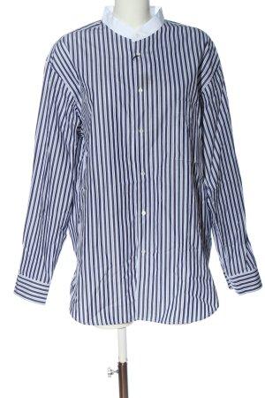 Uniqlo Langarmhemd blau-weiß Streifenmuster Business-Look