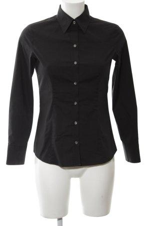 Uniqlo Shirt met lange mouwen zwart zakelijke stijl