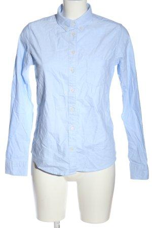 Uniqlo Langarmhemd blau Business-Look
