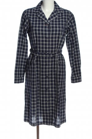 Uniqlo Longsleeve Dress black-light grey check pattern casual look