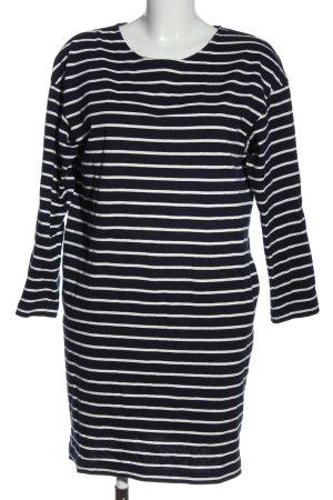 Uniqlo Longsleeve Dress black-white striped pattern casual look