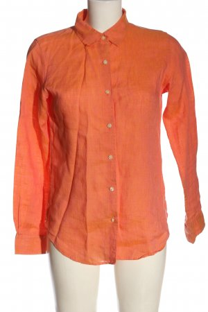 Uniqlo Linnen blouse licht Oranje zakelijke stijl