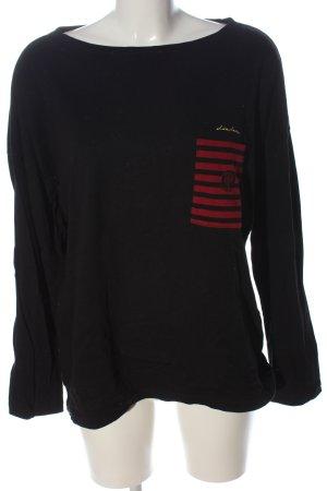 Uniqlo Manica lunga nero-rosso stile casual