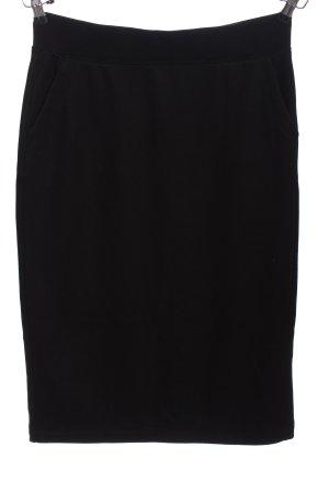 Uniqlo Spódnica midi czarny W stylu biznesowym