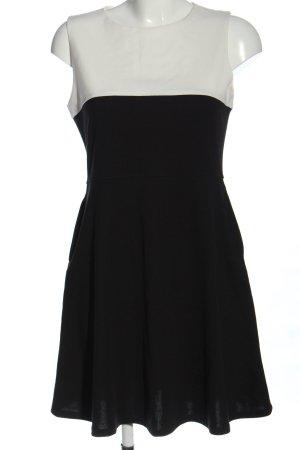 Uniqlo Minikleid schwarz-weiß Casual-Look
