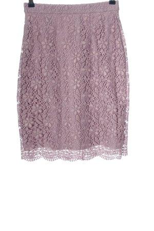 Uniqlo Falda de encaje turquesa Patrón de tejido look casual