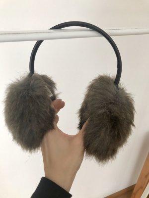 Uniqlo Oorwarmers grijs-bruin-donkerbruin