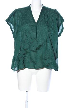 Uniqlo Oversized Bluse grün Casual-Look