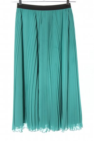 Uniqlo Pleated Skirt turquoise-black casual look