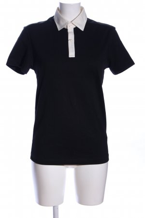 Uniqlo Polo-Shirt schwarz-wollweiß Casual-Look