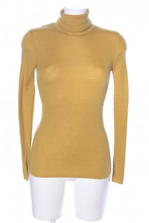 Uniqlo Ribbed Shirt light orange casual look