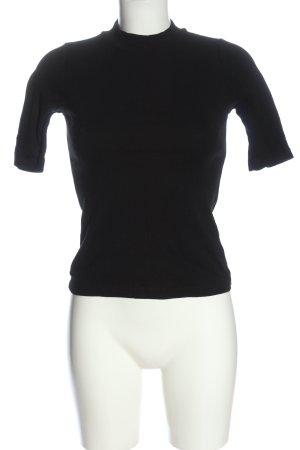 Uniqlo Chemise côtelée noir motif rayé style décontracté