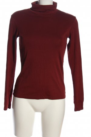 Uniqlo Turtleneck Shirt red casual look
