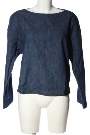 Uniqlo Schlupf-Bluse blau Casual-Look