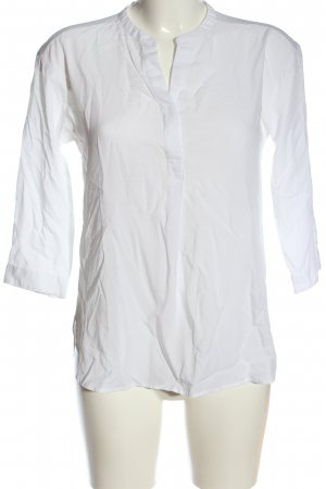 Uniqlo Schlupf-Bluse weiß Casual-Look