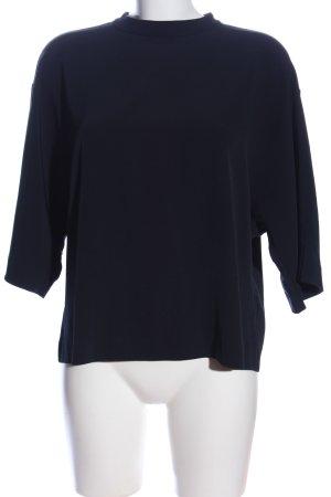 Uniqlo Schlupf-Bluse blau Casual-Look