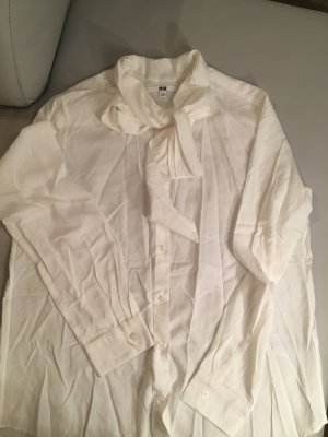 UNIQLO Schluppenbluse, Bluse mit Schluppen, cremeweiß, Gr. L, NEU und ungetragen