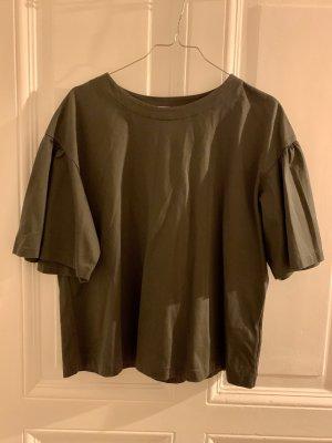 Uniqlo Cropped Shirt khaki