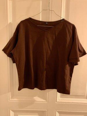 Uniqlo Cropped Shirt bordeaux